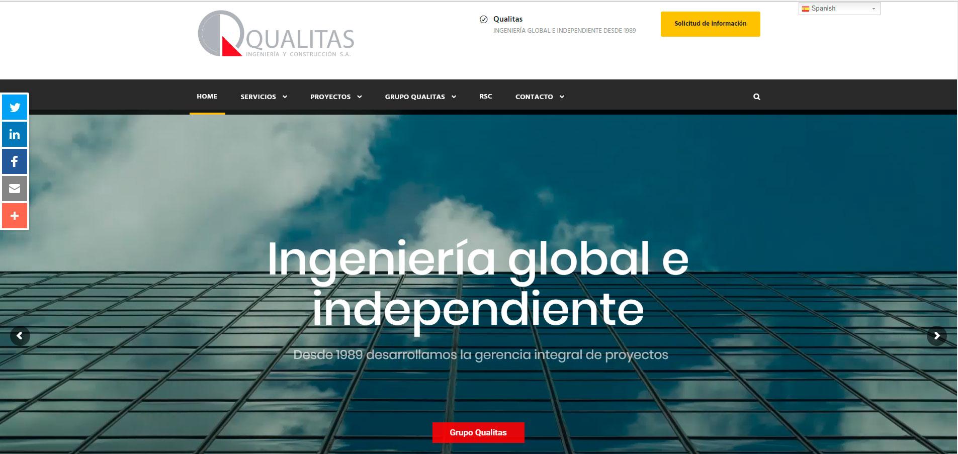 Web Qualitas Ingenieria y Construcción